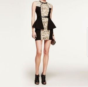 Fashion Star Express Leopard Peplum Mini Dress